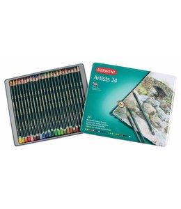 Derwent  Derwent Artists 24 crayons de couleur dans une boîte