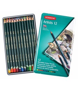 Derwent  Derwent Artists 12 crayons in a tin