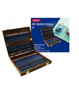 Derwent  Derwent Watercolor 48 crayons aquarelle dans une boîte en bois
