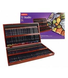 Derwent  Derwent Studio 72 crayons dans une boîte en bois