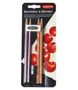 Derwent  Derwent Blender and Burnisher (2 x Blenders, 2 x Burnishers, 1 eraser, 1 sharpener)