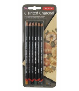 Derwent  Tinted Charcoal Pencils Blister