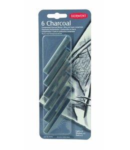 Derwent  Compressed Charcoal blister met 6 ( 2 van elk)