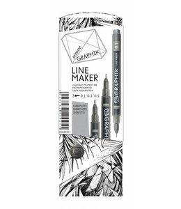 Derwent Graphik Graphik Line Maker Graphite Pack de 3