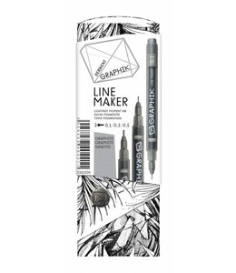 Derwent Graphik Graphik Line Maker Graphite Pack of 3