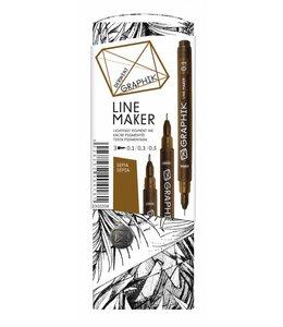 Derwent Graphik Derwent Graphik Line Maker Sepia (3er Pack)