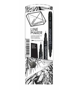 Derwent Graphik Derwent Graphik Line Maker Black (3er Pack)