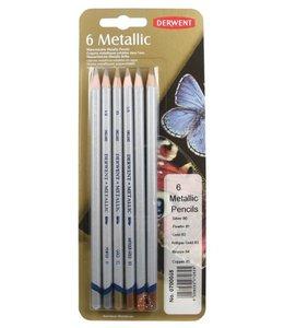 Derwent  Derwent Metallic 6 Bleistifte (Traditionelle Auswahl)