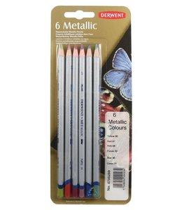 Derwent  Derwent Metallic 6 Crayons (Sélection couleur)