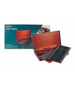 Derwent  Derwent Artists 120 kleurpotloden in houten kist