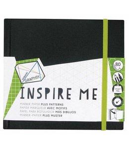 Derwent  Derwent Inspire Me schetsboek klein vierkant van 14 cm
