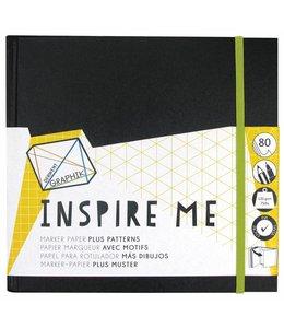Derwent  Inspire Me Skizzenbuch groß 20cm Quadrat