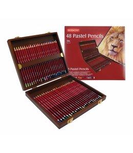 Derwent  Derwent Pastel 48 Pastellstifte in Holzbox