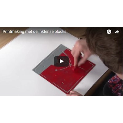 Printmaking with Inktense blocks
