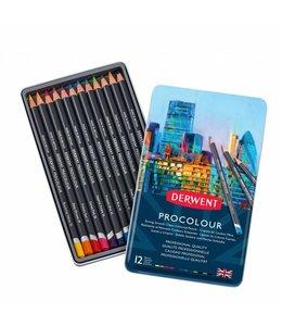 Derwent  Derwent Procolour 12 crayons dans une boîte