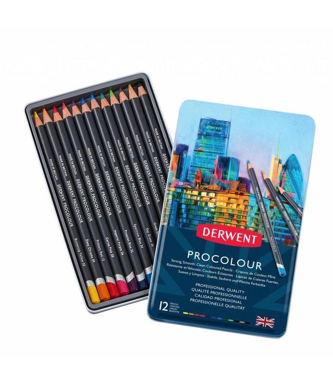 Derwent  Derwent Procolour 12 potloden in een blik