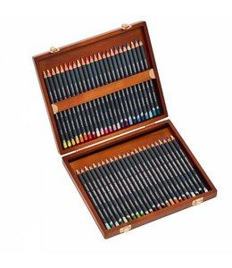 Derwent  Boîte en bois Derwent Procolour avec 48 crayons