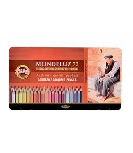 Koh I Noor MONDELUZ 3722 72 aquarelpotloden in een blik