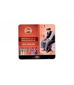 Koh I Noor MONDELUZ 3722 48 aquarelpotloden in een blik