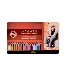 Koh I Noor MONDELUZ 3722 36 aquarelpotloden in een blik