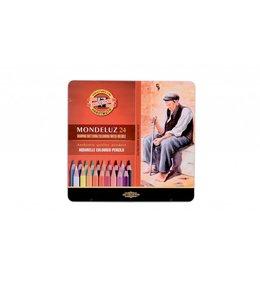 Koh I Noor MONDELUZ 3722 24 aquarelpotloden in een blik