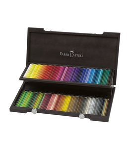 Faber Castell Polychromos 120 crayons de couleur dans une boîte en bois