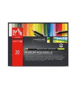 "Caran d'Ache Museum aquarel - 20 Farben Sortiment ""Landschaft"""