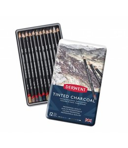 Derwent  Derwent Tinted Charcoal 12 pencils in a Tin