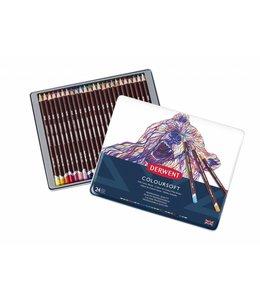 Derwent  Derwent Coloursoft 24 crayons de couleur dans une boîte