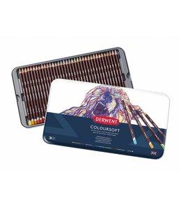 Derwent  Crayons Derwent Coloursoft 36 en boîte