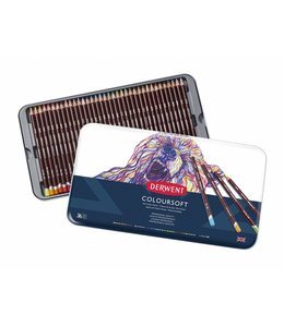 Derwent  Derwent Coloursoft 36 crayons in tin