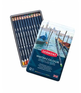Derwent  Derwent Watercolour 12 watercolour pencils in a tin