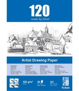 Schut papier Schut Künstler Zeichenpapier A3 120 Gramm