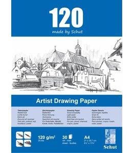 Schut papier Schut Künstler Zeichenpapier A4 120 Gramm