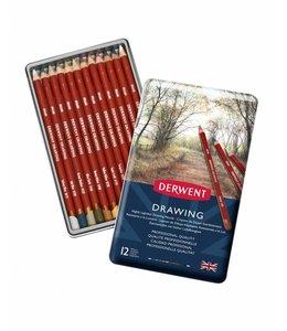 Derwent  Derwent Drawing 12 crayons à dessiner dans une boîte