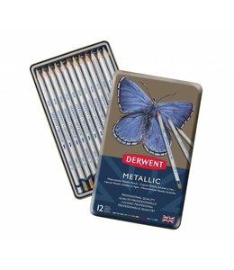 Derwent  Derwent Metallic 12 crayons dans une boîte