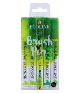 Talens Ecoline Brushpen X5 Green