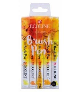 Talens Ecoline Brushpen X5 Yellow