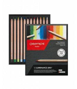 Caran d'Ache LUMINANCE 6901® - 12 kleurenassortiment