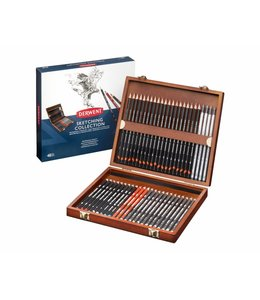 Derwent  Crayons à croquis Derwent 48 dans une boîte en bois