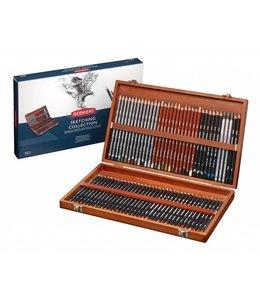 Derwent  Collection de croquis 72 Boîte en bois
