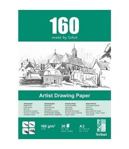 Schut papier Schut Künstlerzeichnungspapier A3 160 Gramm