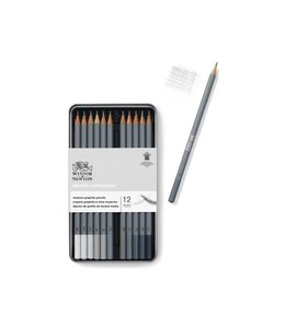 Winsor & Newton Studio Collection 12 crayons graphite en fer blanc