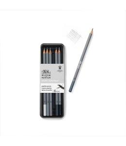Winsor & Newton Studio Collection 6 Bleistifte in Zinn