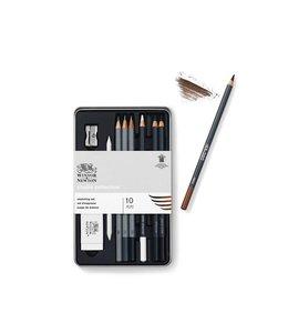 Winsor & Newton Studio Collection schets set 7 potloden met accessiores
