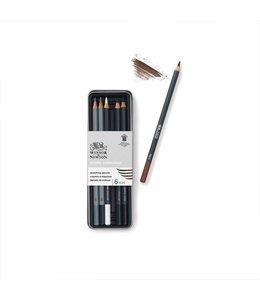 Winsor & Newton Ensemble de croquis Studio Collection 6 crayons en boîte