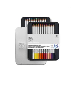 Winsor & Newton Studio Collection 24 watercolor pencils in tin