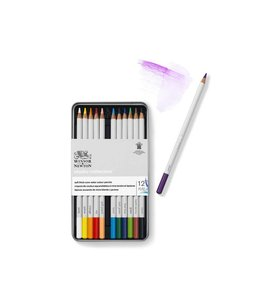 Winsor & Newton Studio Collection 12 water color pencils in tin