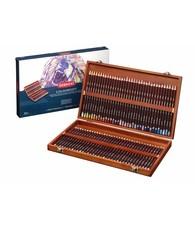 Derwent  Derwent Coloursoft 72 crayons in a wooden box