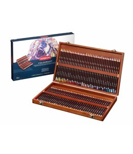 Derwent  Derwent Coloursoft 72 crayons in a wooden box